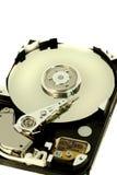 Inside a computer harddisk Stock Image