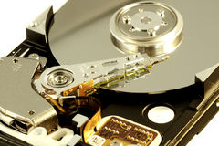 Inside a computer harddisk Royalty Free Stock Photography