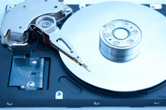 Inside computer harddrive Royalty Free Stock Photos