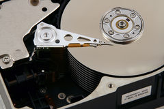 Inside a Computer Harddrive Stock Photography