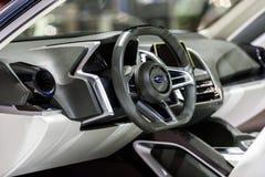 Inside console of Subaru VIZIV2 Concept car Royalty Free Stock Image