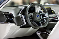 Inside console of Subaru VIZIV2 Concept car Stock Photo