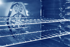Inside a convection oven stock photography