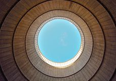 Inside a cooling tower Royalty Free Stock Photos