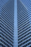 Inside corner of a glass-windowed office tower Royalty Free Stock Image