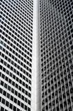 Inside corner of a skyscraper. Inside corner and windows of a skyscraper royalty free stock photos