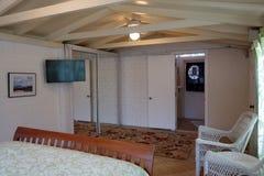 Inside Cottage Bedroom Stock Images