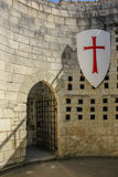 Inside Coudray Tower. Fortress. Chinon. France royalty free stock photography