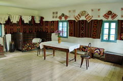 Interior of traditional country house - Romania Stock Images