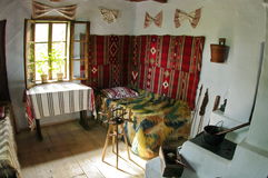 Interior of traditional country house - Romania Stock Photos