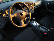 Inside of a Coupe. The interior of a sporty coupe Royalty Free Stock Images