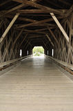 Inside of Covered Bridge Stock Images