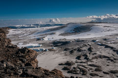 Inside the crater rim, Kilimanjaro Stock Photography