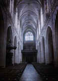 Inside of a creepy old church Stock Photography