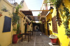 Inside of the Cretan courtyard Royalty Free Stock Image