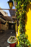 Inside of the Cretan courtyard Royalty Free Stock Photos