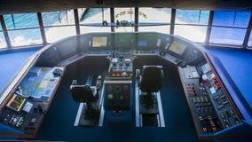 Inside a cruise ship bridge