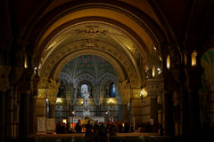Inside the crypt of Fourviere Basilica Stock Images
