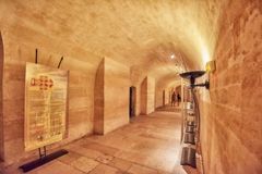 Inside the crypts (underground) of French Mausoleum for Great P Stock Photos