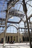 Inside the Crystal Pavilion in the Retiro Park, Madrid Stock Photography
