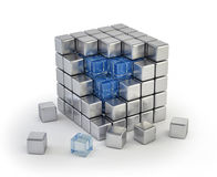 Inside the cube Royalty Free Stock Images