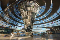 Inside of the Cupola. Of the Reichstag Building in Berlin, Germany royalty free stock image