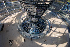 Inside of the Cupola. Of the Reichstag Building in Berlin, Germany stock photos