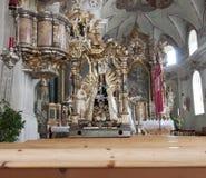Holy maria statute in church Axam Austria Stock Photos