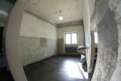Inside Dachau concentration camp Stock Images