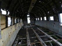 Inside of DC-3 crashed plane stock images