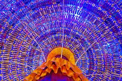Inside Decoration pandal Durga puja festival Stock Photography