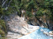 Deep on Taroko - the ancient hydroelectric power plant royalty free stock photo