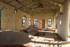 Inside delapitated budynek zdjęcia royalty free
