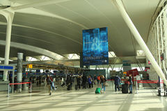 Inside of Delta Airline Terminal 4 at JFK International Airport in New York. royalty free stock images