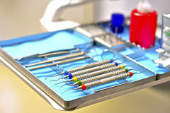 Inside a dentist ambulance Stock Images