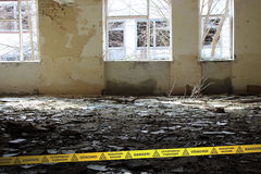 Inside of the deserted School in Chernobyl Zone. Ukraine Royalty Free Stock Photo