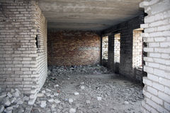 Inside destroyed building Royalty Free Stock Photos