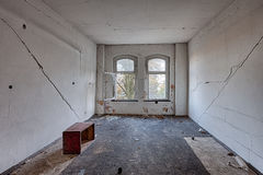 Inside the destroyed house on the edge of the forest Royalty Free Stock Photo