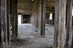 Inside destructed house Stock Images