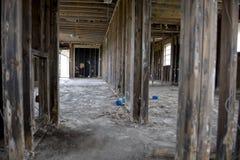 Inside destructed house