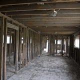 Inside destructed house Stock Images