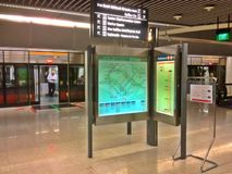 Inside Dhoby Ghaut MRT station, Singapore Royalty Free Stock Images