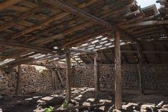 Inside a dilapidated barn Royalty Free Stock Photos