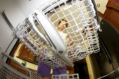 Inside the Dishwasher Royalty Free Stock Image