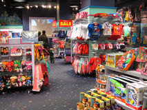 Inside a Disney store. Stock Images