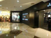 Inside dlf mall in Delhi. A prominent mall in south Delhi Royalty Free Stock Image
