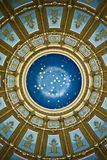 Inside the Dome. Inside looking up at the dome in the Capitol stock photo