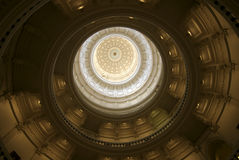 Inside Dome of Capital State of Texas Stock Photo