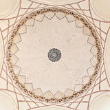 INSIDE THE DOME OF THE HUMAYUN'S TOMB, NEW DELHI, INDIA. Humayun died in 1556, and his widow Hamida Banu Begam, also known as Haji Begam, commenced the Royalty Free Stock Photos