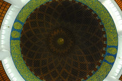 Inside dome of Masjid Sultan Salahudin Abdul Aziz Shah (Shah Alam Mosque) Royalty Free Stock Photo
